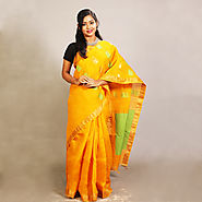 Yellow Cotton Saree Online | Yellow Cotton Saree | Buy Online - KKB Store
