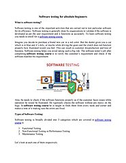 Software testing for beginners by Diksha sharma