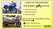 3 tips to transport your bike safely – Moving Solutions