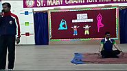 Little Champs performing yoga and free hand exercises| St Mary Champions School