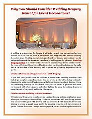 Wedding Drapery Rental for Event Decorations - Event Lighting Rental