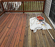 Newtown Square Deck Painting