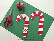 10 Easy Candy Cane Crafts for Toddlers & Preschoolers - Toot's Mom is Tired