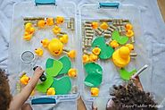 Feed the Ducks Sensory Bin for Toddlers & Preschoolers - Toot's Mom is Tired