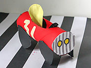 Toilet Paper Roll Race Car Craft for Toddlers and Preschoolers - Toot's Mom is Tired
