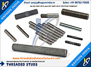 Threaded Studs manufacturers exporters in India http://www.threadedrodsmanufacturers.com +91-9876270000