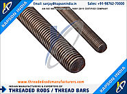 Carbon Steel Threaded Rods manufacturers exporters in India http://www.threadedrodsmanufacturers.com +91-9876270000