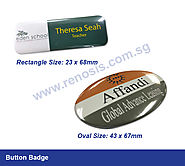 Renosis offer Best Button Badges Printing in Singapore