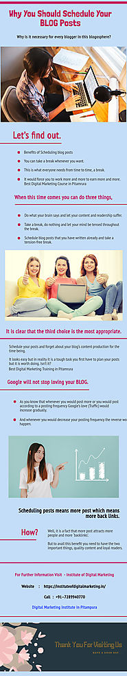Why You Should Schedule Your BLOG Posts | Infographic