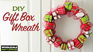 DIY Mini Giftbox Christmas Wreath