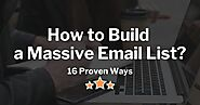 How to Build a Massive Email List Fast: 16 Proven Ways