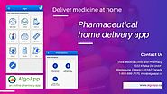 Deliver medicine at home with pharmaceutical home delivery app