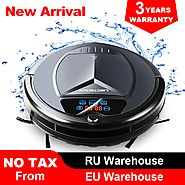 (Free shipping to all countries) 2019 Newest Wet and Dry Robot Vacuum Cleaner,with Water Tank,TouchScreen,Schedule,Se...