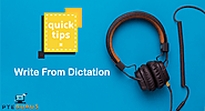 Best tips for PTE Write from Dictation - Tips and Tricks for PTE Exam by PTEGurus
