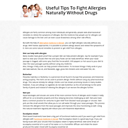 Useful Tips To Fight Allergies Naturally Without Drugs