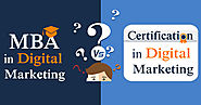 How Digital Marketing Course is a Great Substitute to a MBA