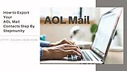 How to Export Your AOL Mail Contacts Step By Step