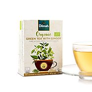 Organic Green Tea Ginger | Dilmah Organic Green Tea with Ginger