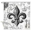 CafePress Vintage French fleur de lis Shower Curtain - Standard White