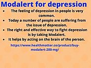 Modalert for depression by jen aniston on Dribbble