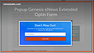 How to Popup Genesis eNews Extended Optin Form