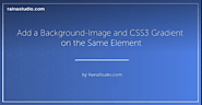 Combine a Background Image and CSS3 Gradient on the Same Element