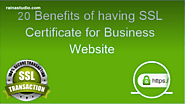 20 Benefits of having SSL Certificate for Business Website