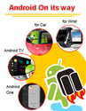 Android along with Google, Paving its way to your Cars, Watches and TVs