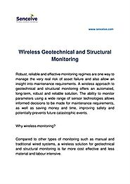 Wireless Geotechnical and Structural Monitoring