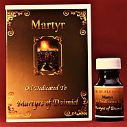 Website at https://ablessedcalltolove.com/product/martyrs-of-daimiel-healing-oil/