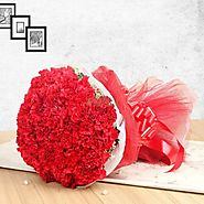 Choose fresh flowers for her on valentines day - Yuvaflowers