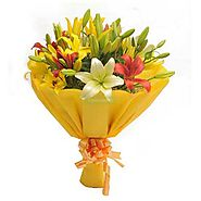 Send valentines day flowers to Ahmedabad from Yuvaflowers