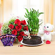 Midnight birthday gifts delivery in Hyderabad from Yuvaflowers