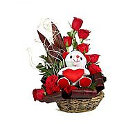Online Valentine's Day flowers delivery in Chennai from Yuvaflowers