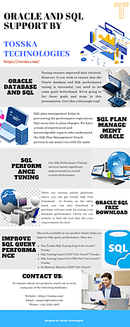 Oracle and SQLSupport by Tosska Technologies