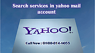 Search services in yahoo mail account