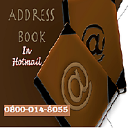 How to create address book in Hotmail