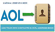 How Can I add my own contacts in AOL address book - Contact Support Helpline : powered by Doodlekit
