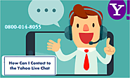 How can I Contact to the Yahoo Live Chat