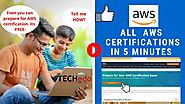 All AWS Certifications in 5 min | Prepare for AWS Certifications- 100% FREE | Techedo Technologies