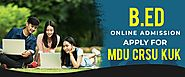 B.Ed from Mdu Rohtak 2020-2021 Online Registration Form Admission Process