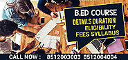 Website at https://www.bedadmission.co.in/B-ed-From-Du-Entrance-Exam-Online-Forms-Syllabus-Dates/