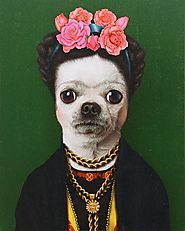 Canvas Frida Kahlo Dog Portrait | The PHAG Shop