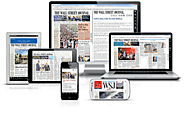 A Range of Subscription Coupon offers for Top Business Newspapers from the Agencies – WSJ New Subscription