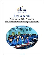 Real Super 30 Program by CSRL: Providing Platform for Underprivileged Students