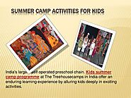 Summer Camp Activities for Kids - Treehouseplaygroup