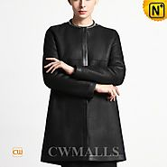 CWMALLS® Custom Ladies Black Shearling Coat CW651315