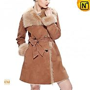 CWMALLS® Custom Toscana Long Shearling Coat CW640232