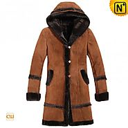 CWMALLS® Custom Women Long Shearling Coat CW695111