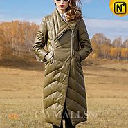 CWMALLS® Womens Winter Leather Down Coats CW651001
